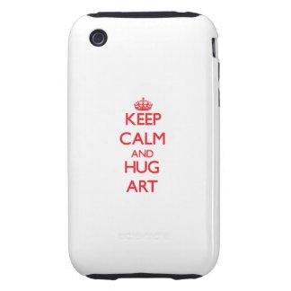 Houd het Kalme en Art van de OMHELZING iPhone 3 Tough Hoesjes
