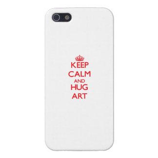 Houd het Kalme en Art van de OMHELZING iPhone 5 Case