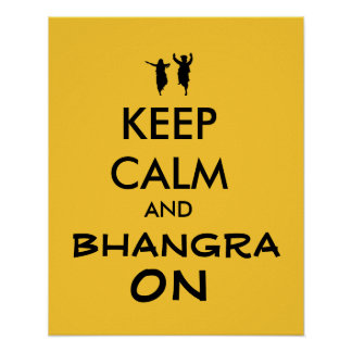 Houd Kalm en Bhangra bij Klantgericht Dansen Poster