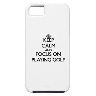 Houd Kalm en concentreer me bij het Spelen van Gol iPhone 5 Cover