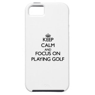 Houd Kalm en concentreer me bij het Spelen van Gol Tough iPhone 5 Hoesje