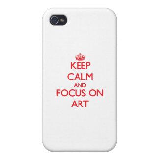Houd kalm en concentreer me op ART