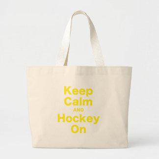 Houd Kalm en Hockey Grote Draagtas