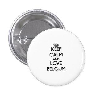 Houd Kalm en Liefde België Speldbutton