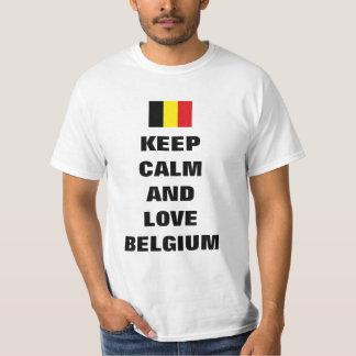 Houd kalm en liefde België T Shirt