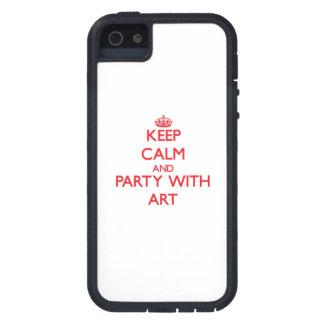 Houd kalm en Partij met Art iPhone 5 Hoesje