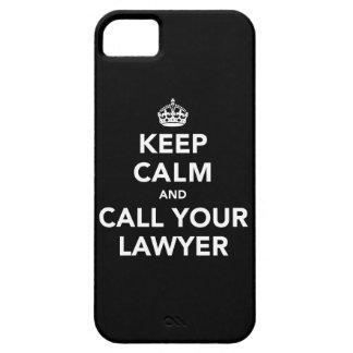 Houd Kalm en roep Uw Advocaat Barely There iPhone 5 Hoesje