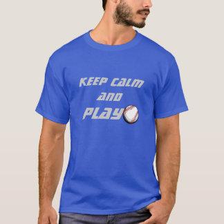 Houd Kalm en speel de t-shirt van het Honkbal
