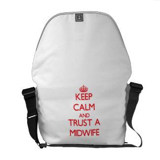 Houd Kalm en vertrouw op een Vroedvrouw Courier Bag