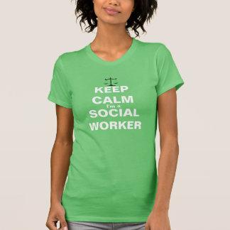 Houd kalm ik ben een maatschappelijk werker t shirt