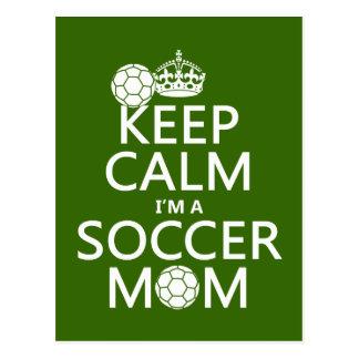 Houd Kalm ik ben een Mamma van het Voetbal (in om  Wens Kaart