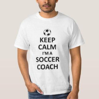 Houd kalm ik ben een voetbalbus t shirt
