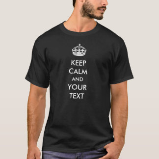 Houd Kalm Uw Tekst maken Uw Eigen T-shirt