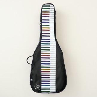 Housse De Guitare Clés psychédéliques foncées fraîches de piano