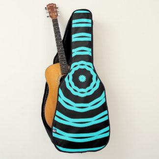 Housse De Guitare Coutume de bleus de cool de mandala de Mecque pro