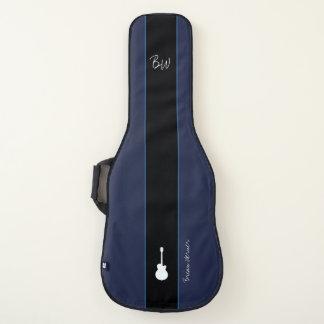 Housse De Guitare grande rayure + nom de guitariste + initiales sur