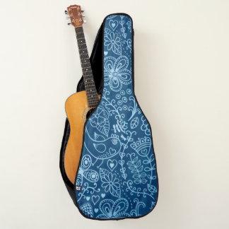 Housse De Guitare Griffonnages sur la conception de guitare de denim