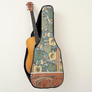 Housse De Guitare Le nasturce de Nouveau d'art fleurit la monture