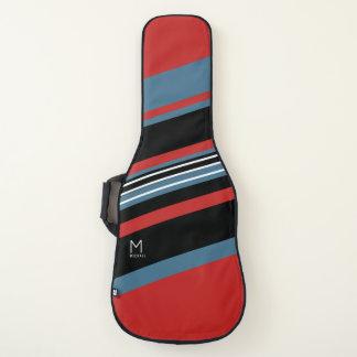 Housse De Guitare le rouge bleu noir diagonal barre le cool décoré