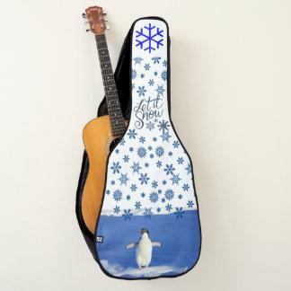 Housse De Guitare Pinguin dans la neige