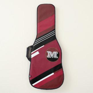 Housse De Guitare rayures fraîches avec le rouge de monogramme