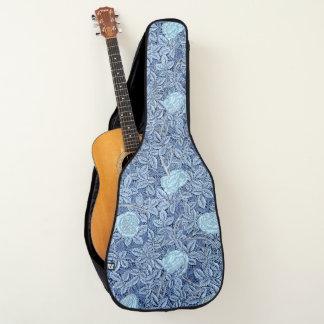 Housse De Guitare S'est levé le motif bleu blanc