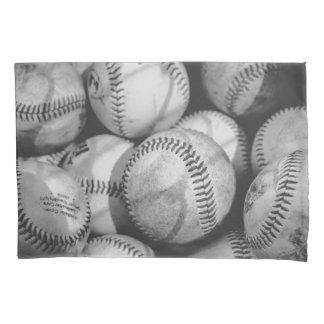 Housse D'oreillers Base-ball en noir et blanc