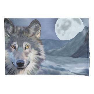 Housse D'oreillers Beau loup de scène d'hiver
