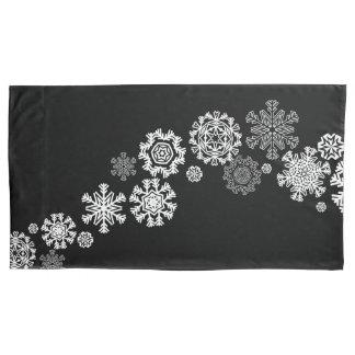 Housse D'oreillers Caisse de coussin de flocons de neige de vacances