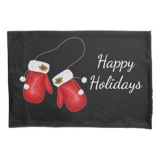 Housse D'oreillers Caisse de coussin de mitaines de Noël