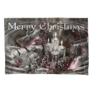 Housse D'oreillers Caisse de coussin de Noël de Monocrome avec des