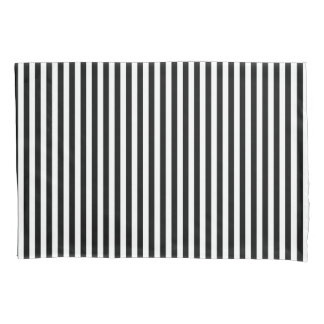 Housse D'oreillers Caisse de coussin de rayures de Black&White