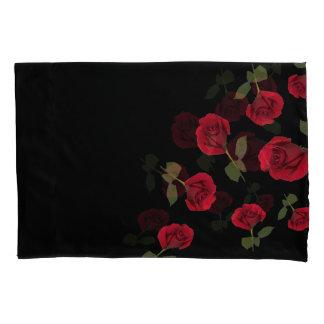 Housse D'oreillers Caisse de coussin de rose rouge