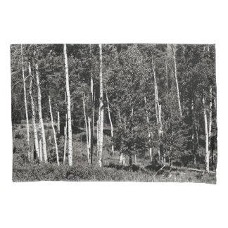 Housse D'oreillers Caisse noire et blanche de coussin de Treeline