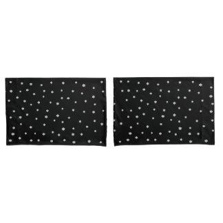 Housse D'oreillers Caisses étoilées noires de coussin de conception