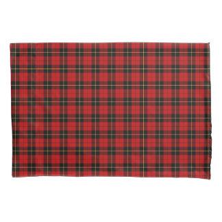 Housse D'oreillers Clan plaid écossais rouge et noir de Wallace
