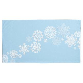 Housse D'oreillers Coque-Roi Size de coussin de flocons de neige de