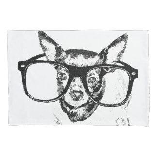 Housse D'oreillers Dessin d'illustration de chien de chiwawa