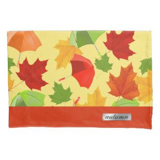 Housse D'oreillers Feuille et parapluies d'automne