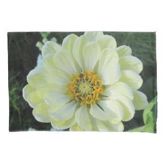 Housse D'oreillers Fleur jaune-clair de dahlia