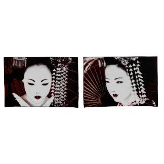 Housse D'oreillers Geisha