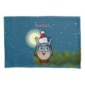 Housse D'oreillers Hibou mignon de bébé avec le casquette de Noël