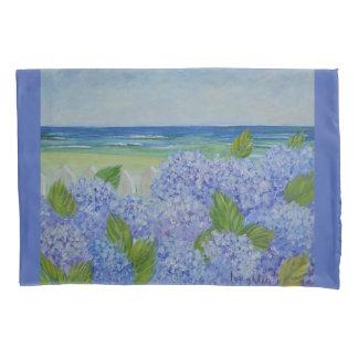 Housse D'oreillers Hortensias par la mer