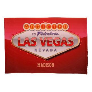 Housse D'oreillers Las Vegas, signe bienvenu drôle de nanovolt