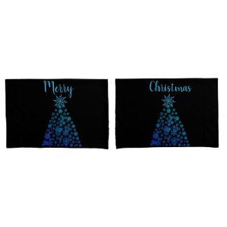 Housse D'oreillers Le coussin de Noël enferme les arbres de Noël