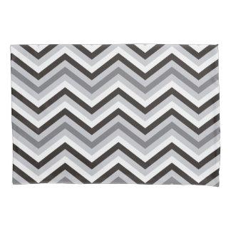Housse D'oreillers Motif de zigzag noir et blanc moderne