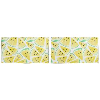 Housse D'oreillers Motif jaune de tranches de pastèque