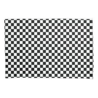 Housse D'oreillers Motif noir et blanc de damier