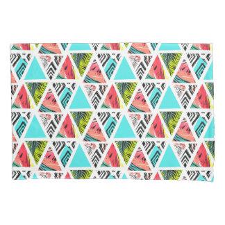 Housse D'oreillers Motif tropical abstrait coloré
