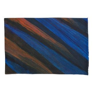 Housse D'oreillers Paires de bleu, de noir, et d'orange, cas de